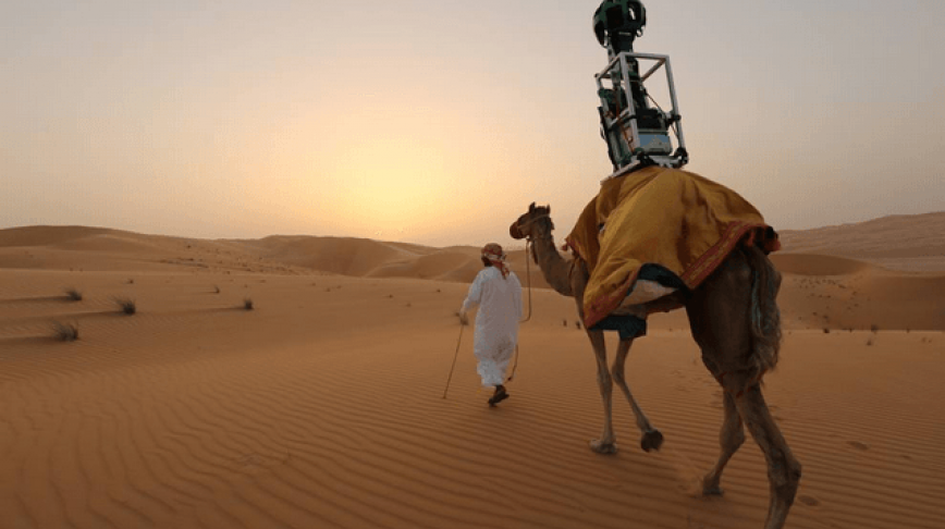 Visual of Google Street View Camel