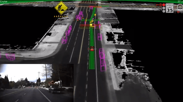 Visual of How a Self-Driving Car Sees the World