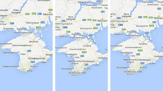 Visual of How Google Maps Solves Borders Issues