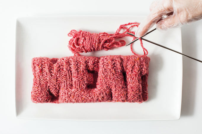 Visual of In Vitro Recipe #1: Knitted Meat