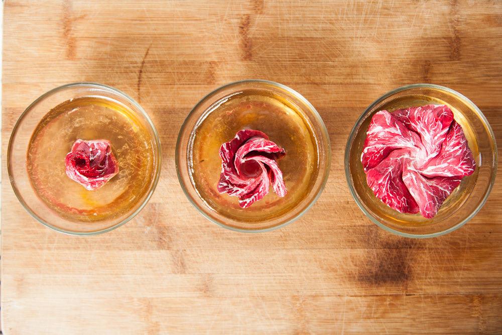 Visual of In Vitro Recipe #12: Meat Flowers