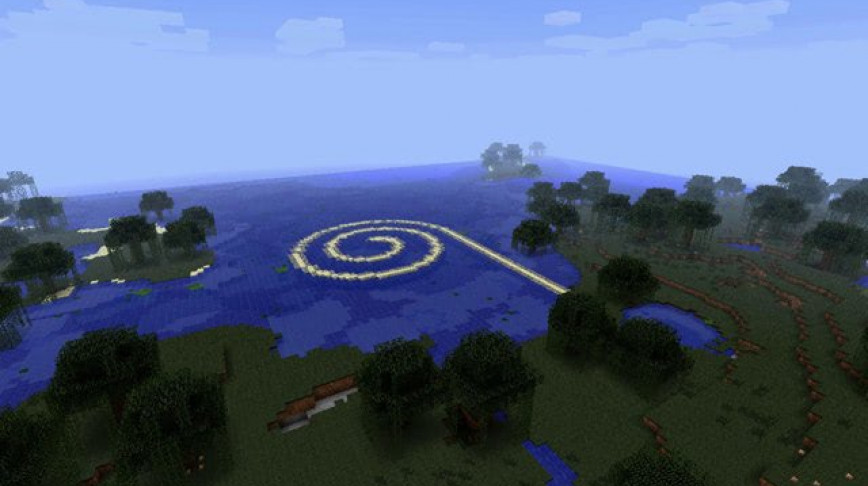 Visual of Land Art in Minecraft