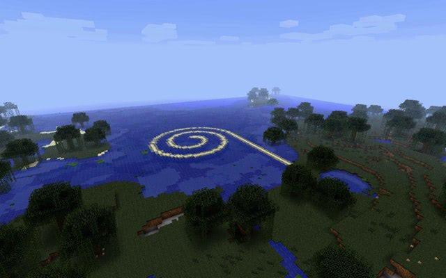 Visual of Land Art in Minecraft