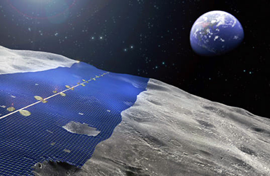 Visual of Lunar Solar Power Generation