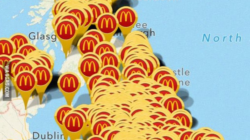 Visual of McDonald's Is Eating The World