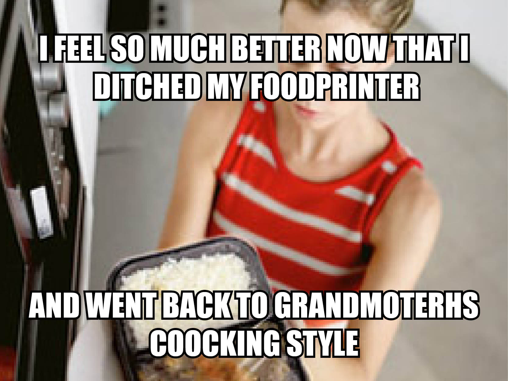 Visual of Microwave VS Food Printer