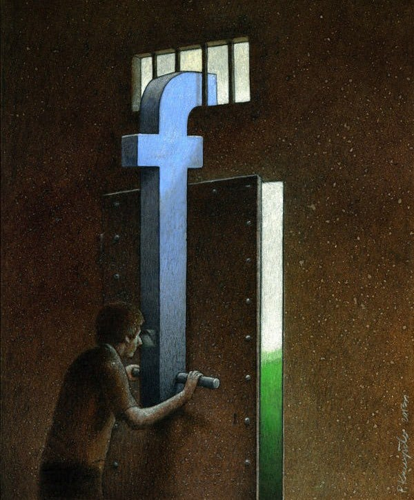 Visual of Modern Society Contradictions