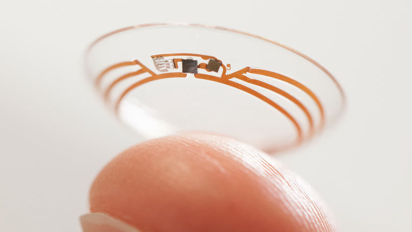 Visual of Smart Contact Lens Can Monitor Glucose