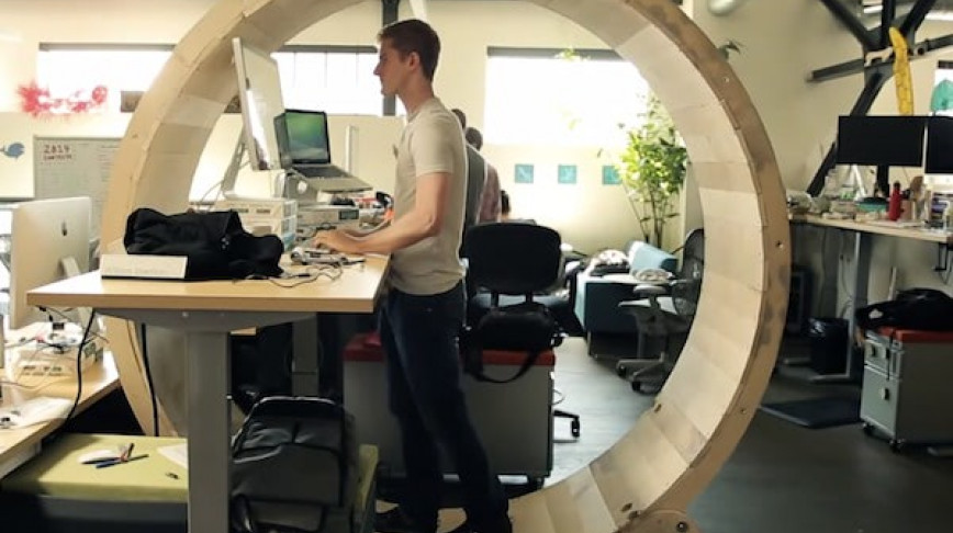 Visual of The Human Hamster Wheel Desk
