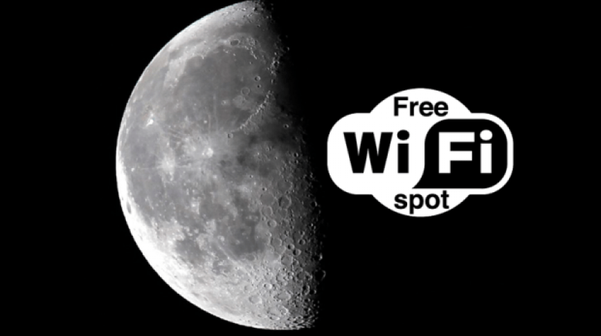 Visual of The Moon will Become a WiFi Zone