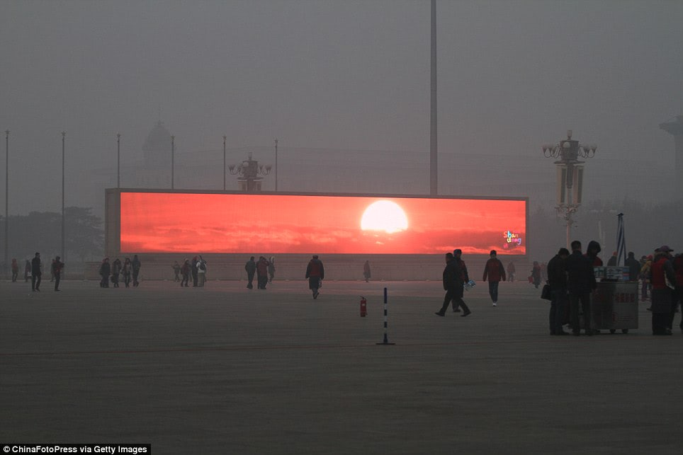 Visual of The Sunrise is Now Televised in Beijing