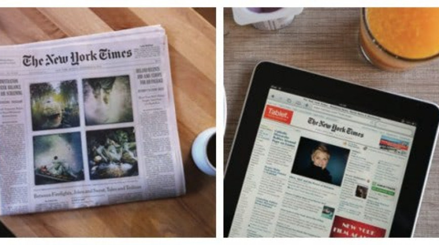 Visual of Analogue vs Digital: News, Now and Then