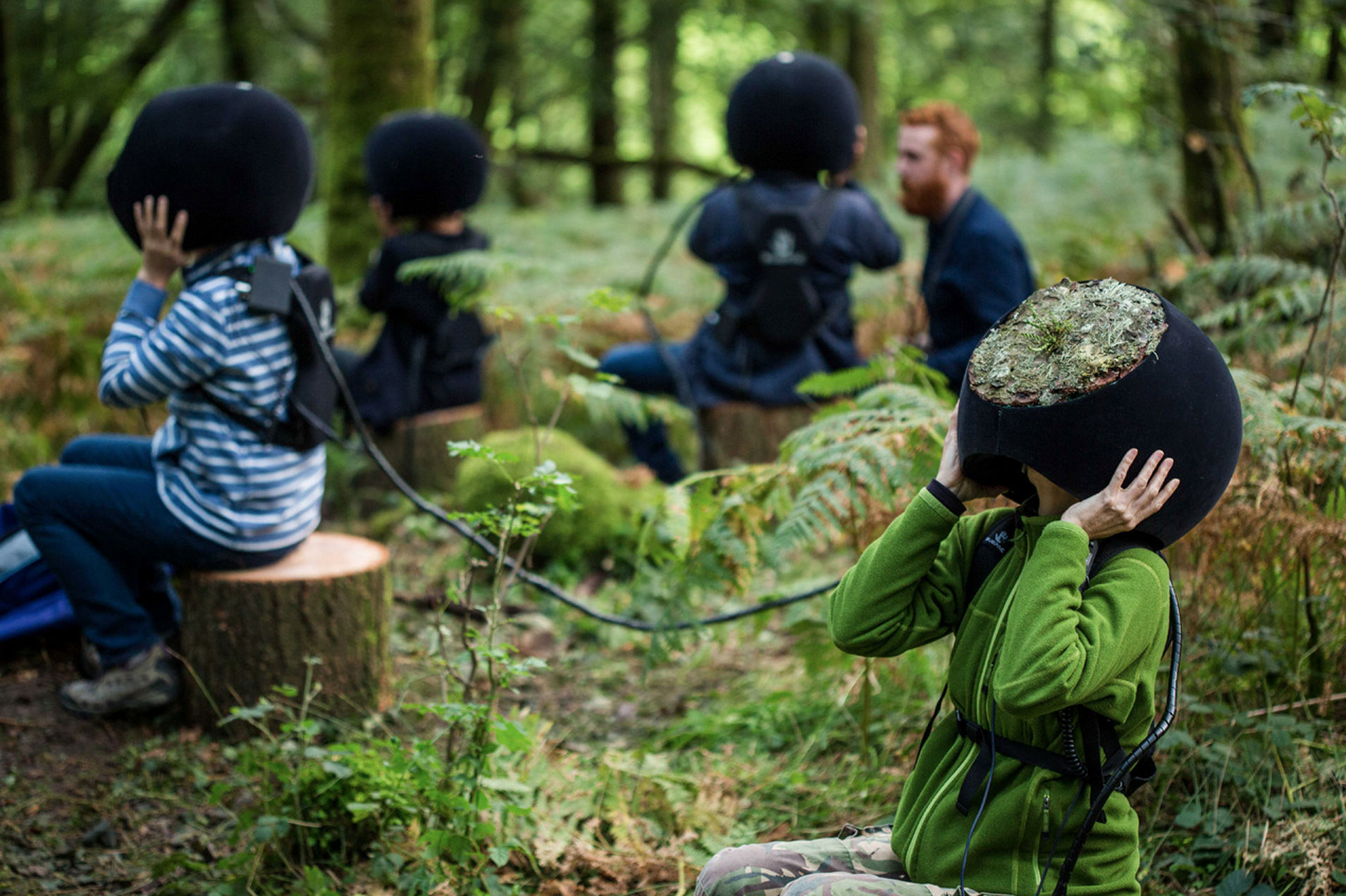 Visual of Experiencing Animal Vision Through Virtual Reality