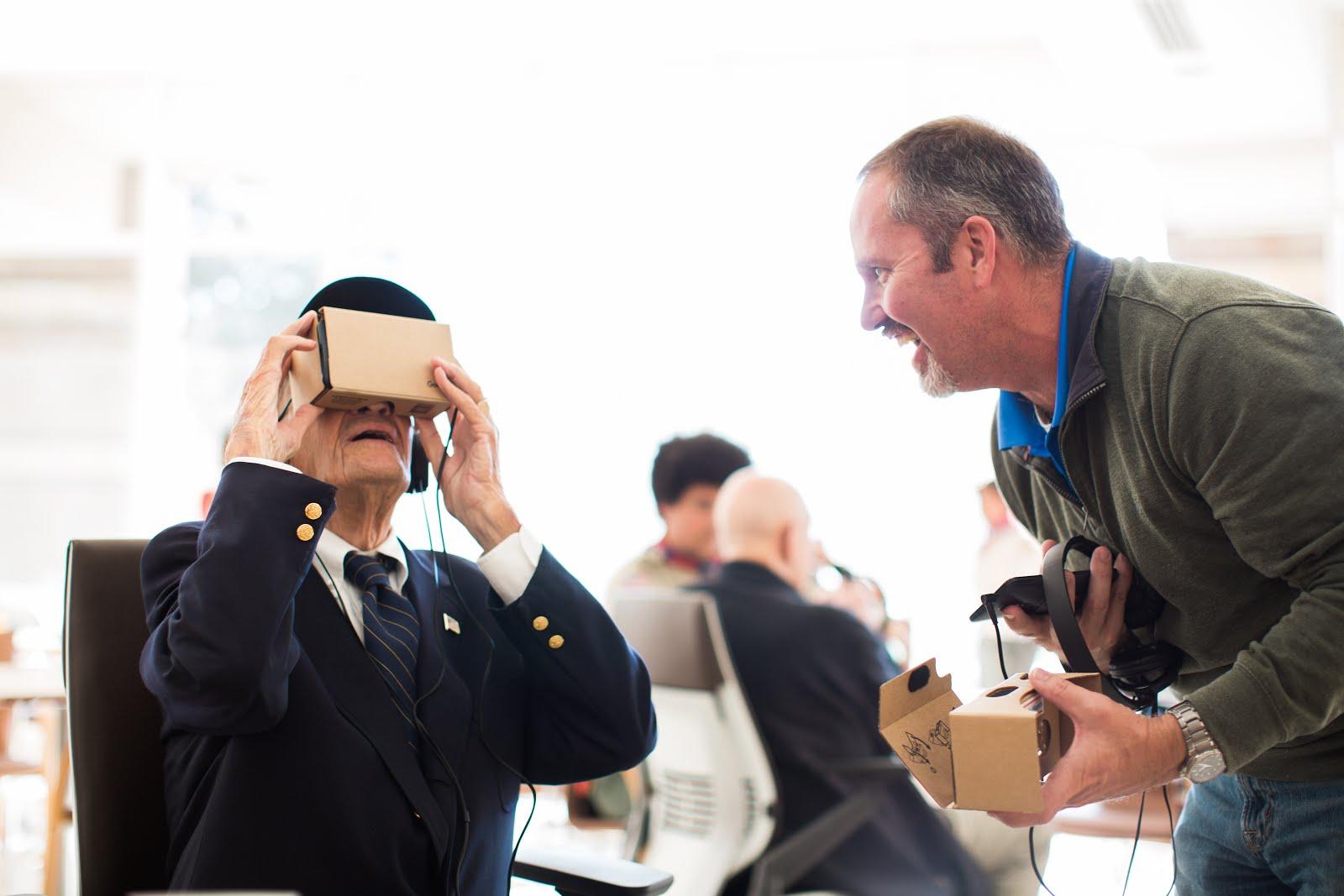 Visual of Hospitalised Veterans Experience Virtual Parade