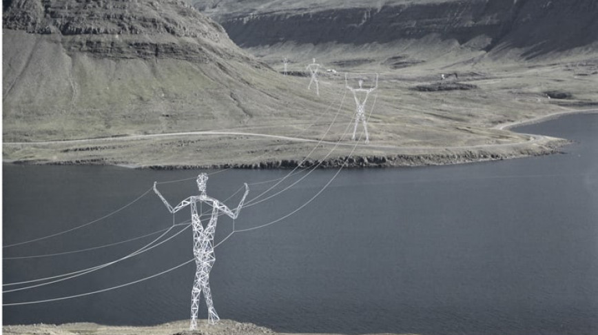 Visual of Human-Shaped Power Lines