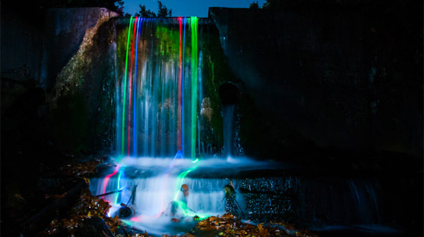Visual of Neon Waterfalls