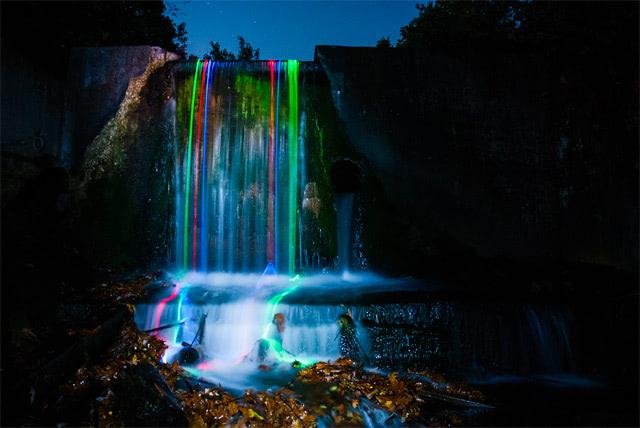 Visual of Neon Waterfalls