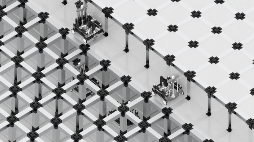 Visual of Tiny Robots Assemble a Room in Minutes