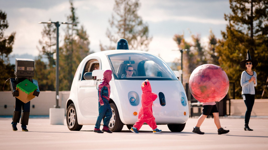 Visual of Self-Driving Cars Practice Kids Recognition
