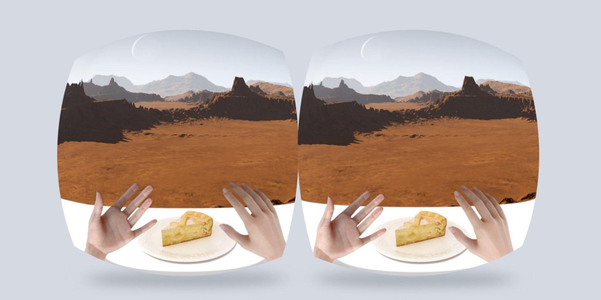 Visual of Virtual Reality Dining Experience