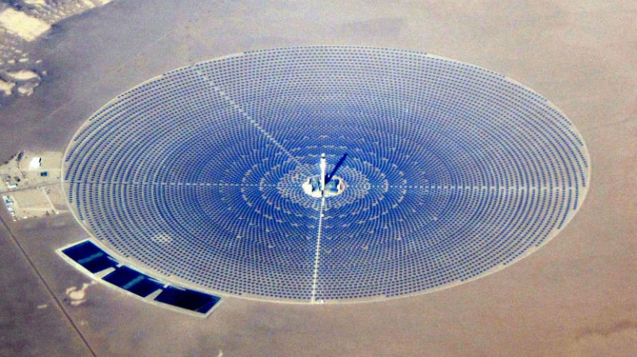 The Crescent Dunes Solar Energy Project, Nevada, US