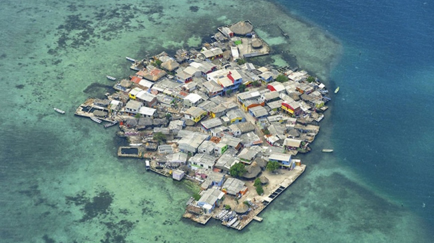 Visual of The Most Densely Populated Island on Earth