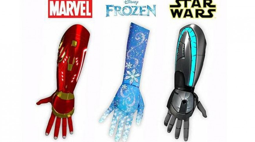 Visual of Disney-Themed Prosthetics for Children
