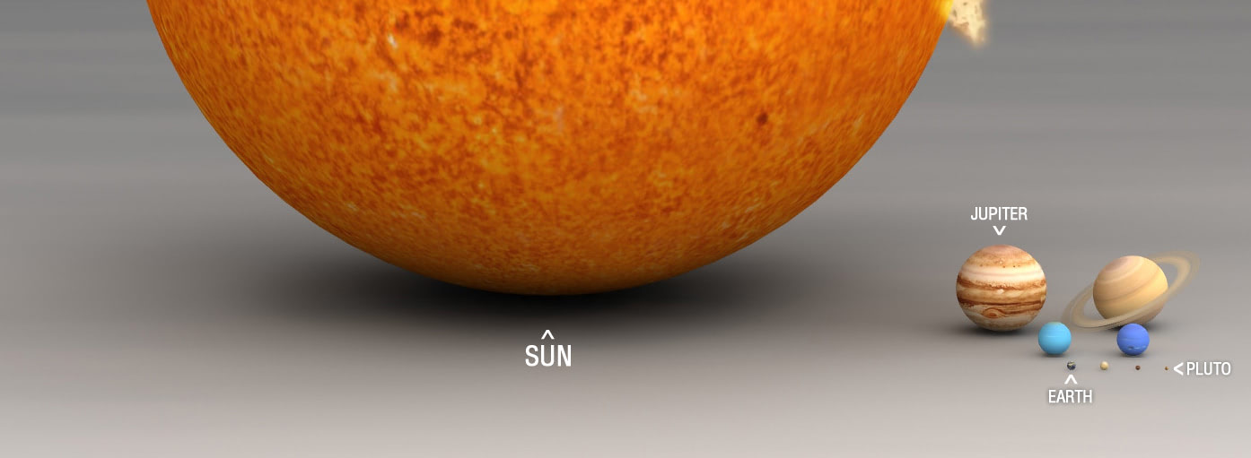 Visual of Earth Next to the Sun Makes Us Modest