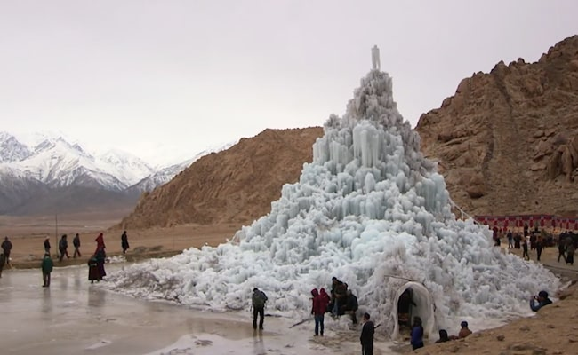 Artificial-Glacier-Stupa