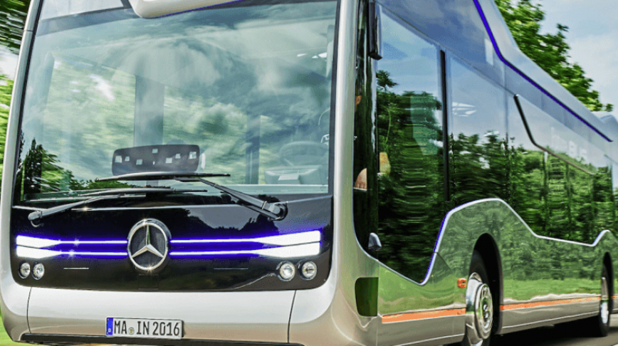 Visual of The First Self-Driving City Coach