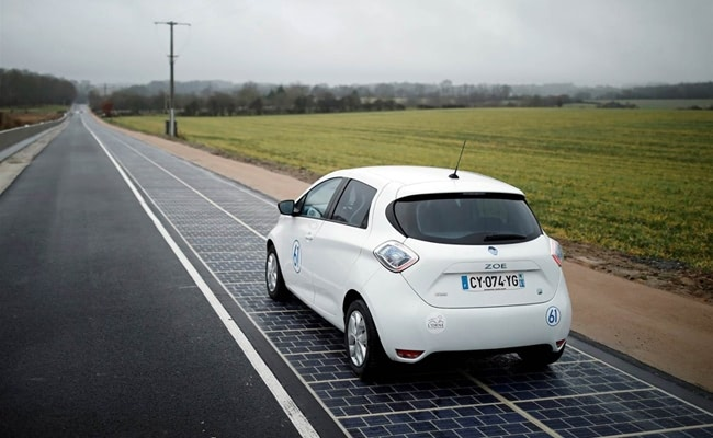 Visual of First Solar Road Opens in France