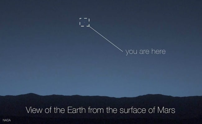 Visual of Greetings from Mars