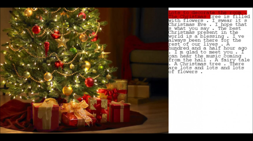 Visual of KaraokeBot Sings Christmas Carols