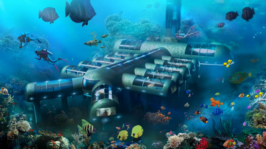 Visual of The New Era of Tourism is Underwater
