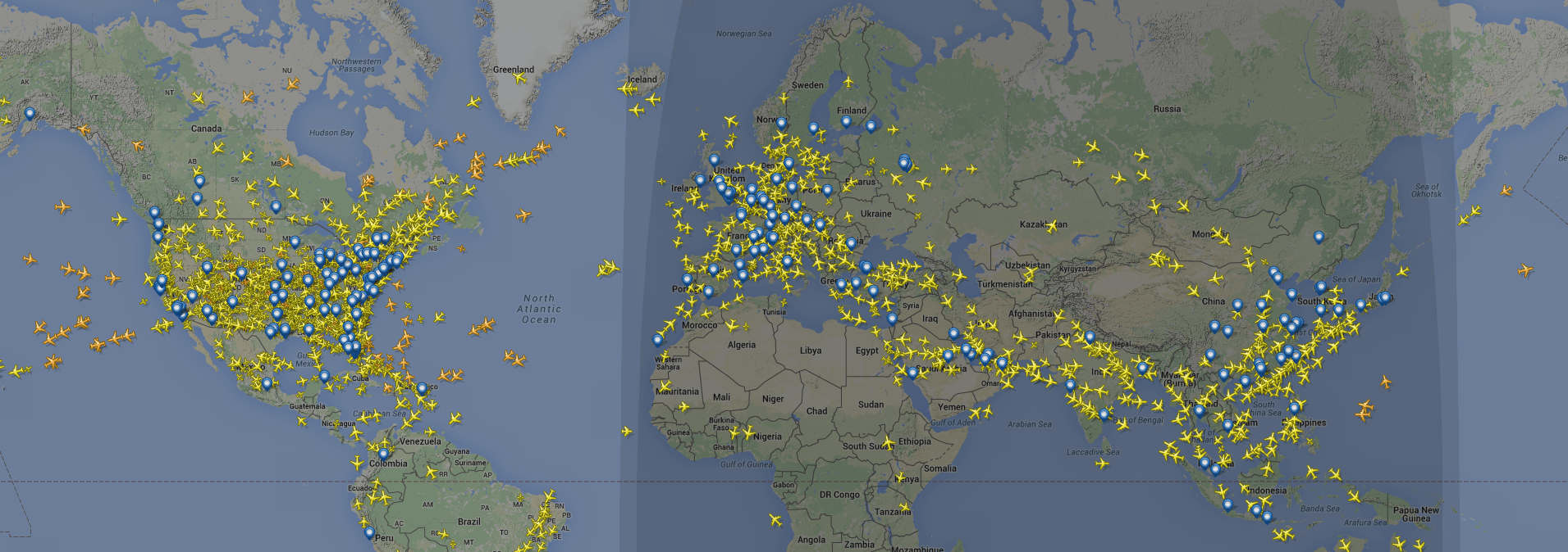 Visual of There Are More People Flying in Airplanes right Now, than there were Alive on Earth in the Stone Age