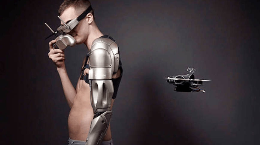 Visual of Bionic Prosthetic Arm with Personal Drone