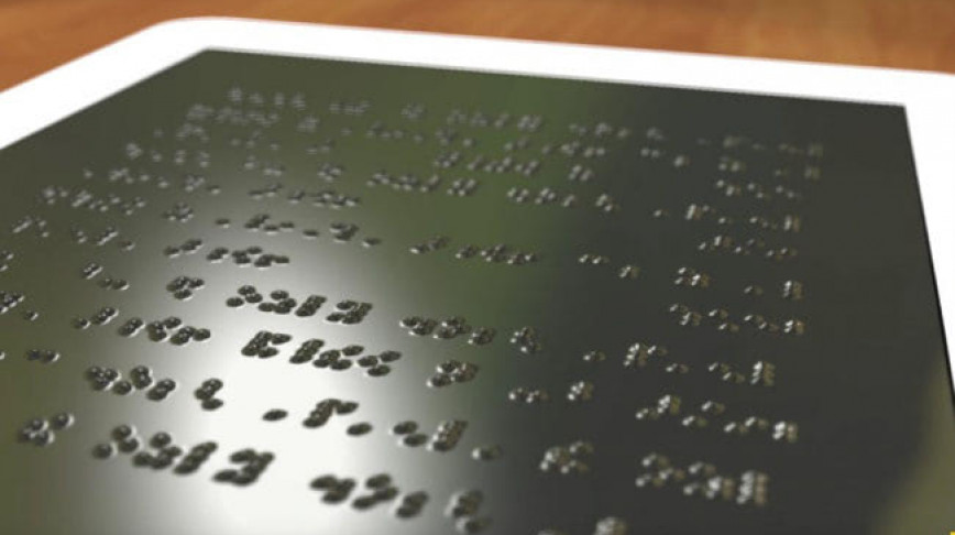 Visual of A Tablet for the Visually Impaired People