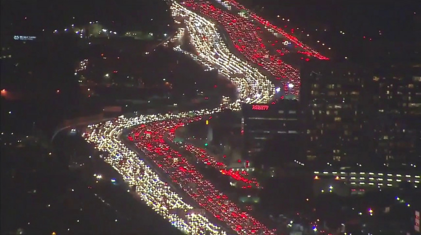 Visual of Thanksgiving Getaway Gridlock
