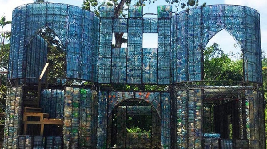 Visual of A Village Made of Plastic