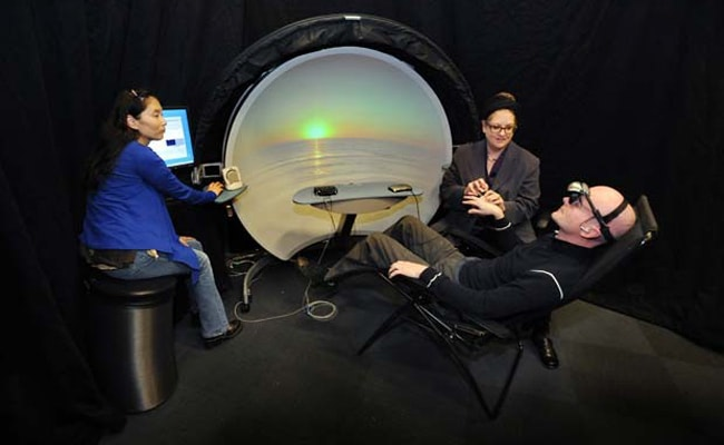 Visual of Virtual Reality Meditation