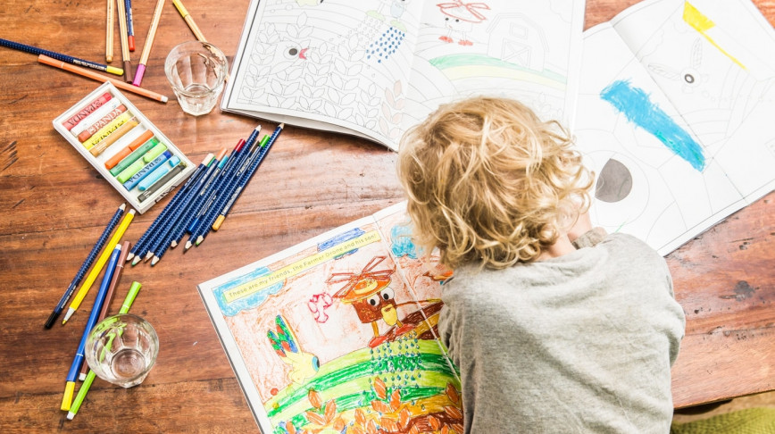Visual of What's Flying There? Coloring Book