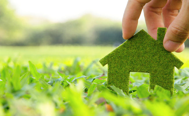 Visual of Fake Grass Covered Roofs to Produce Energy