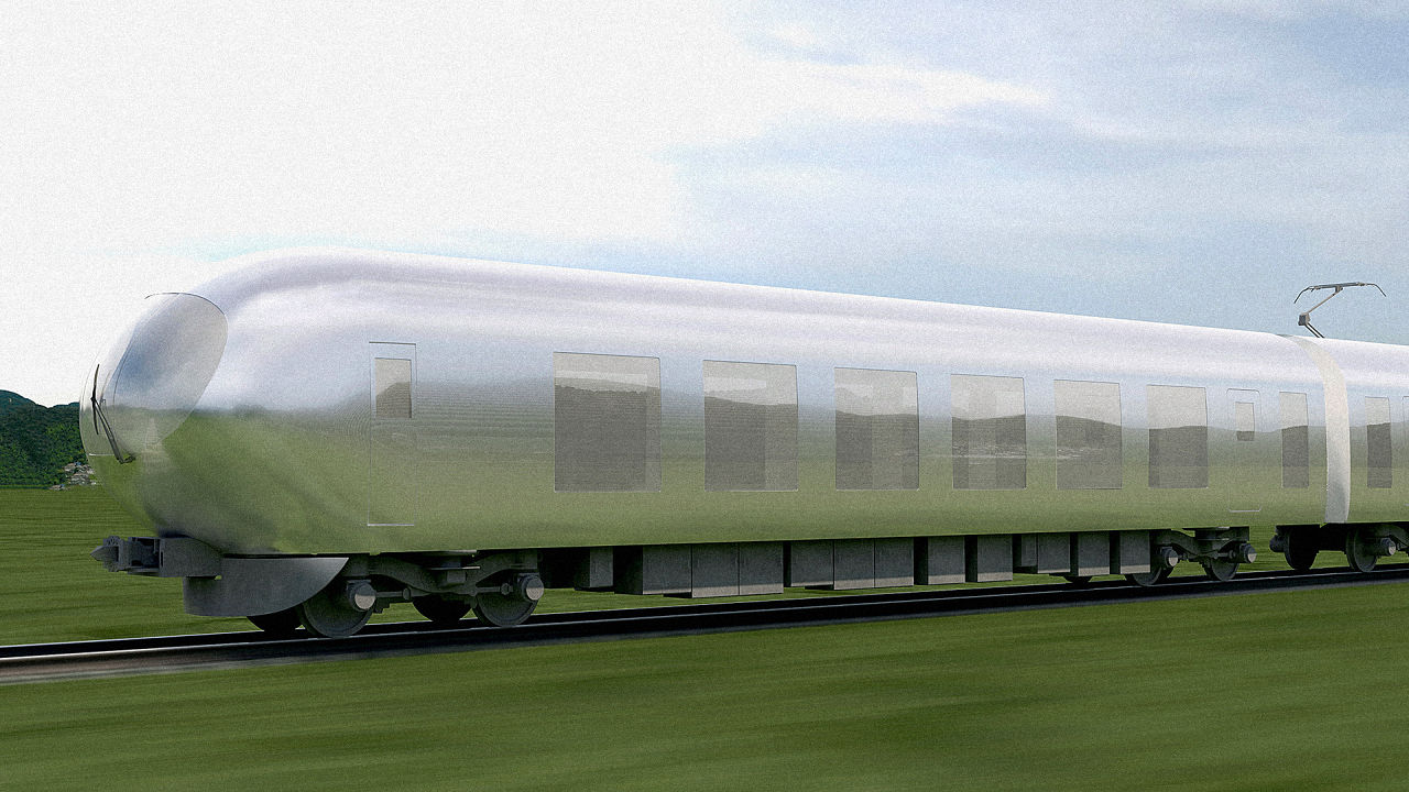 Visual of The World's First Invisible Train