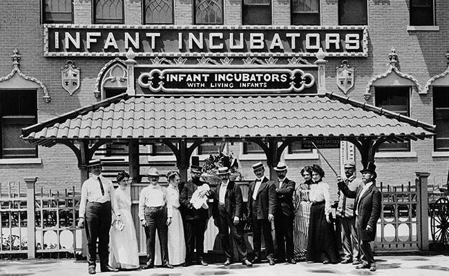 Visual of 1896 - Baby Incubators in Coney Island