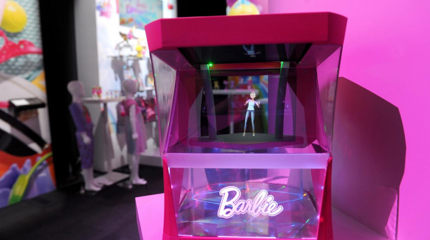 Visual of Barbie Becomes a Hologram of Herself