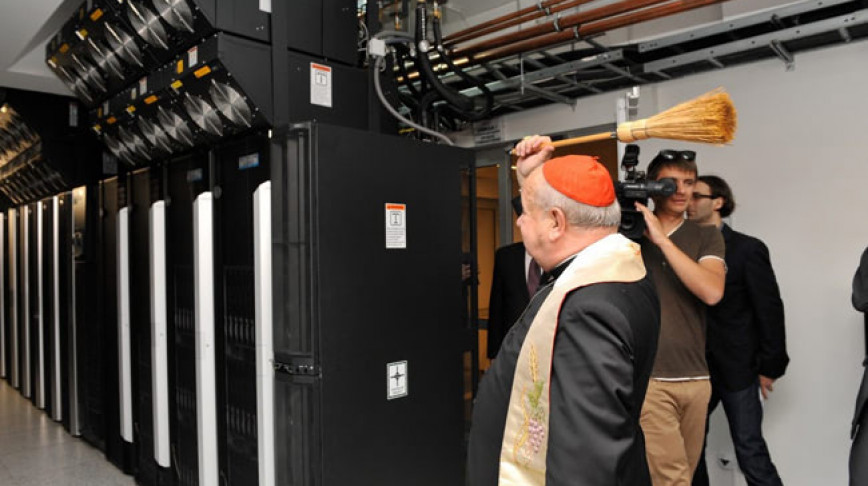 Visual of Priests Bless Server Rooms
