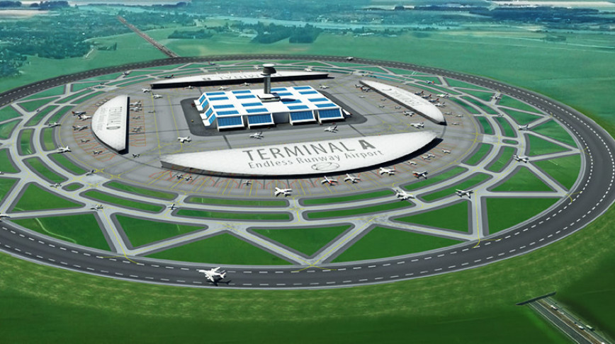 Visual of Circular Runway for Airport Efficiency