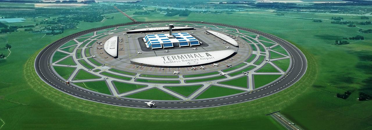 Visual of Circular Runway for Airport Efficiency
