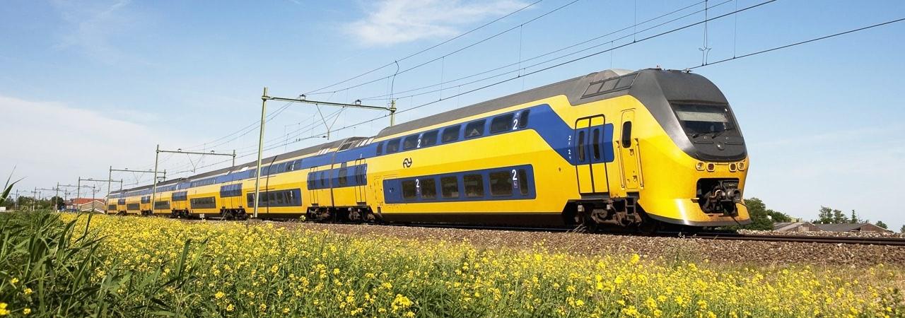 Visual of Dutch Trains Now Run on Wind Power