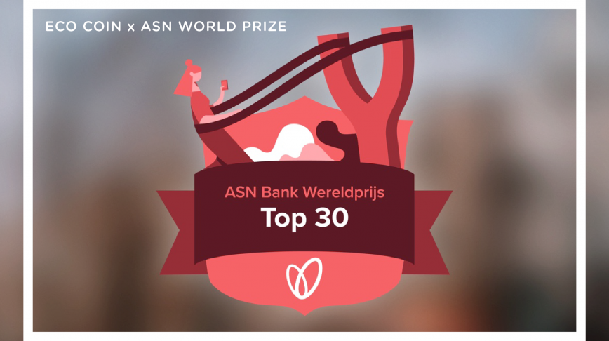 Visual of ECO Coin Makes Top 30 in ASN Bank World Prize